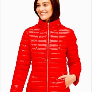 NWT Kate Spade Packable Down Jacket -Red XS